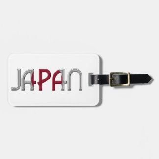 Japan Japanese Flag Colors Typography Souvenir Bag Tag