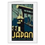 Japan, Japanese Govt Railways Travel Poster Greeting Card