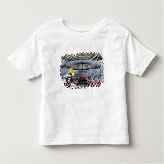 Japan, Kanagawa Pref., Kamakura. Floral Toddler T-Shirt