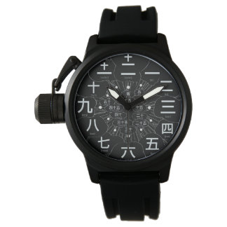 Japan kanji MANGA style [Black face 3] Watch