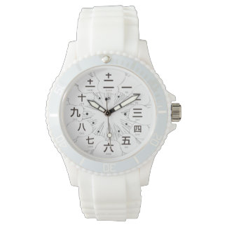 Japan kanji MANGA style [white face] Watch