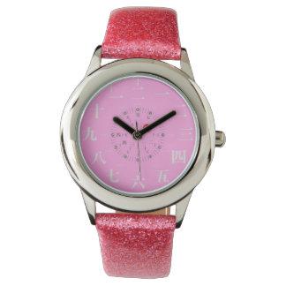 Japan kanji style [pink face] watch