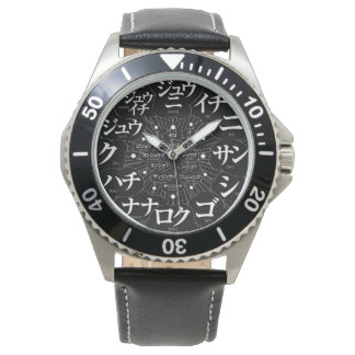 Japan Katakana MANGA style [black face] Watch
