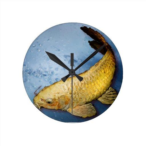 Japan koi fish clocks zazzle for Japanese koi company