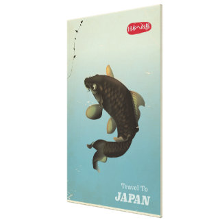 Japan Koi Vintage travel poster Canvas Print