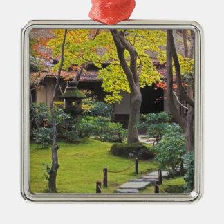 Japan, Kyoto, Arashiyama, Okochi Sanso Silver-Colored Square Decoration