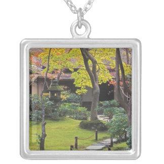 Japan, Kyoto, Arashiyama, Okochi Sanso Silver Plated Necklace
