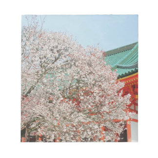 Japan, Kyoto. Cherry blossom of Shinto Notepad
