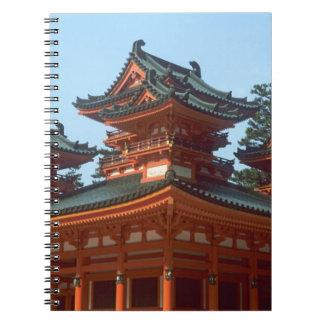 Japan, Kyoto, Colorful Heian Jingu Temple, Notebook