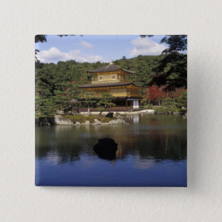 Japan, Kyoto, Golden Pavilion, Zen Temple 15 Cm Square Badge
