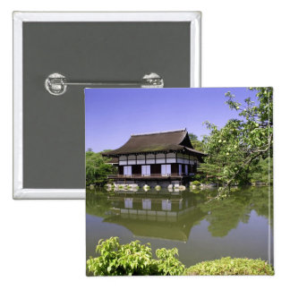 Japan, Kyoto, Japanese Garden of Heian Shrine 15 Cm Square Badge