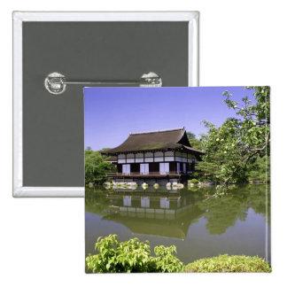 Japan, Kyoto, Japanese Garden of Heian Shrine 15 Cm Square Badge