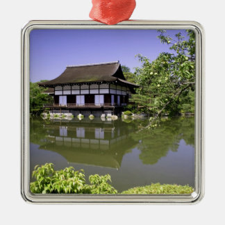 Japan, Kyoto, Japanese Garden of Heian Shrine Silver-Colored Square Decoration