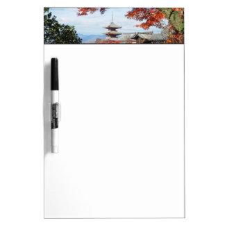 Japan, Kyoto. Kiyomizu temple in Autumn color Dry Erase Board
