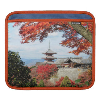 Japan, Kyoto. Kiyomizu temple in Autumn color iPad Sleeve
