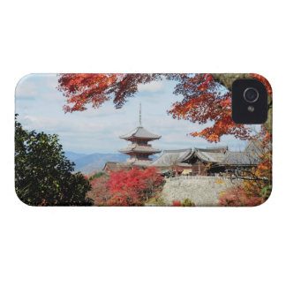 Japan, Kyoto. Kiyomizu temple in Autumn color iPhone 4 Case-Mate Case