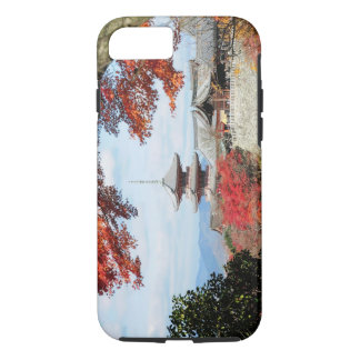 Japan, Kyoto. Kiyomizu temple in Autumn color iPhone 8/7 Case