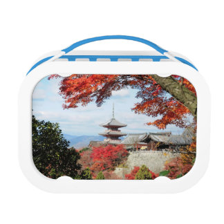 Japan, Kyoto. Kiyomizu temple in Autumn color Lunch Box