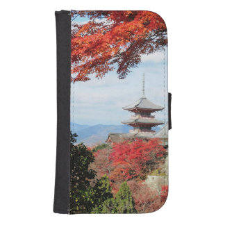Japan, Kyoto. Kiyomizu temple in Autumn color Samsung S4 Wallet Case