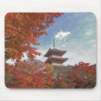 Japan, Kyoto, Pagoda in Autumn colour Mouse Pad