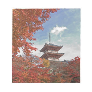 Japan, Kyoto, Pagoda in Autumn colour Notepad
