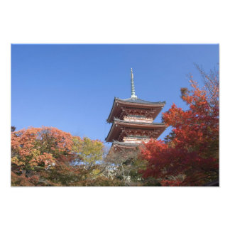 Japan, Kyoto, Pagoda in Autumn colour Photo Print