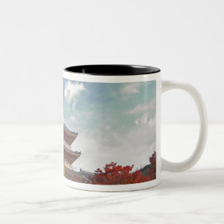 Japan, Kyoto, Pagoda in Autumn colour Two-Tone Coffee Mug