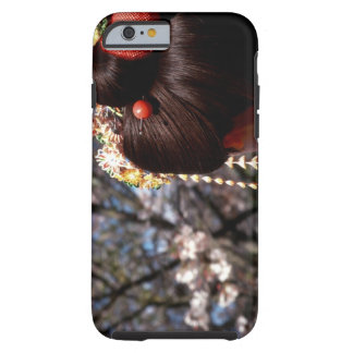Japan, Kyoto. Rear view close-up of geisha's Tough iPhone 6 Case