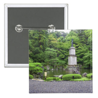 Japan, Kyoto, Scilent Stone Garden 15 Cm Square Badge