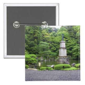 Japan, Kyoto, Scilent Stone Garden 15 Cm Square Badge