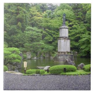 Japan, Kyoto, Scilent Stone Garden Large Square Tile