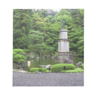 Japan, Kyoto, Scilent Stone Garden Notepad