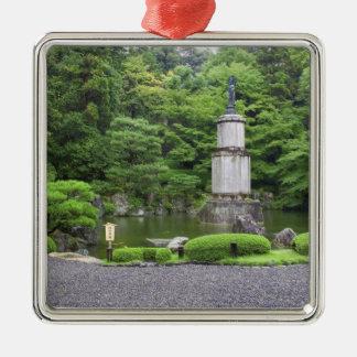 Japan, Kyoto, Scilent Stone Garden Silver-Colored Square Decoration