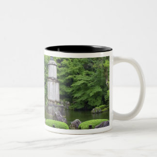 Japan, Kyoto, Scilent Stone Garden Two-Tone Coffee Mug