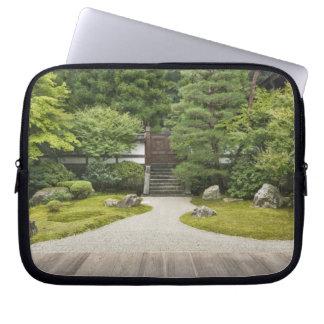 Japan, Kyoto, Sennyuji Temple Garden Laptop Sleeve