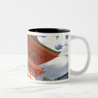Japan, Kyoto, Soaring Gate of Temple Two-Tone Coffee Mug