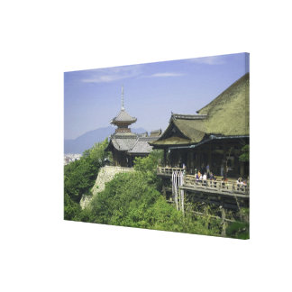 Japan, Kyoto, The View from Kiyomizu Temple Canvas Print