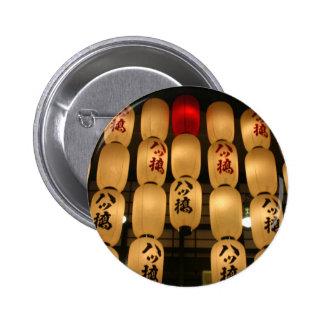 japan lanterns 6 cm round badge