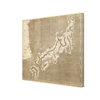 Japan Map by Arrowsmith Canvas Print