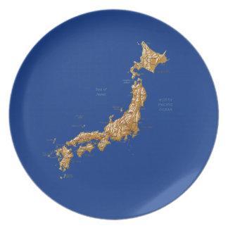 Japan Map Plate