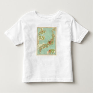 Japan map with shipping routes toddler T-Shirt