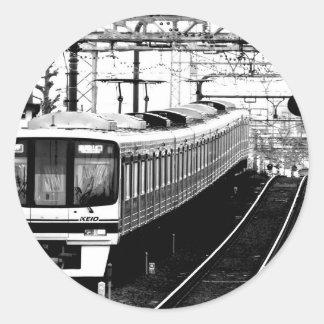japan modern art design tokyo round sticker