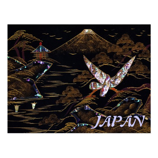 Japan Mt. Fuji Nature Scene Postcard