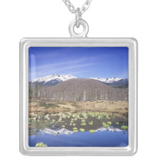 Japan, Nagano, Norikura, Mt. Norikura & Silver Plated Necklace