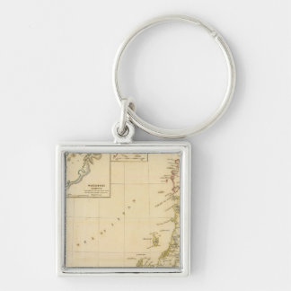 Japan, Nagasaki Silver-Colored Square Key Ring