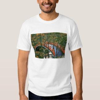 Japan, Nara Pref., Nara. The Royal Bridge glows T-shirts