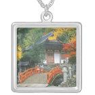 Japan, Nara, Ryuzenji Temple Silver Plated Necklace