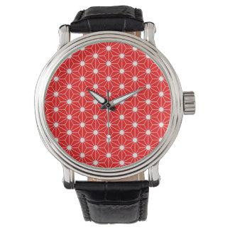 japan national symbol asanoha leaf texture pattern watch