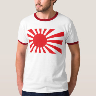 Japan Navy Flag - Red T-Shirt