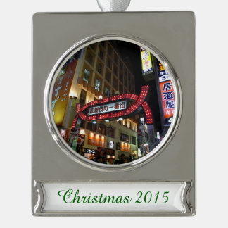 Japan Neon Signs Silver Plated Banner Ornament